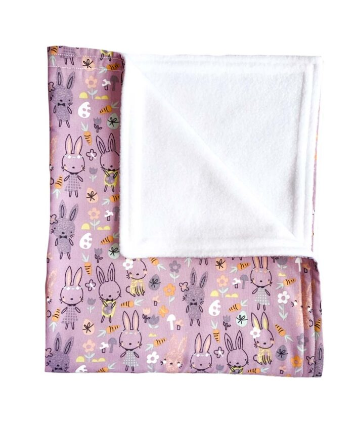 Bunny Rabbits Baby Blanket-Pink