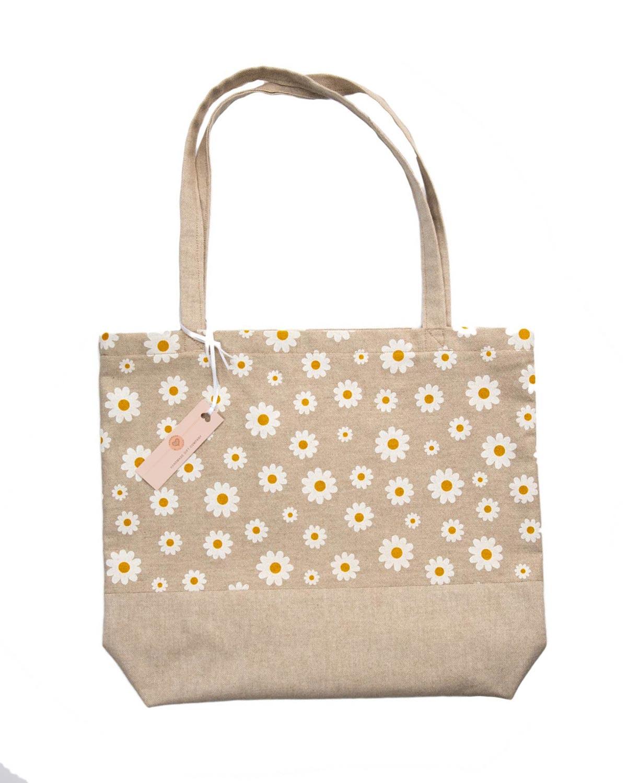 Tote Bag-Daisy Design