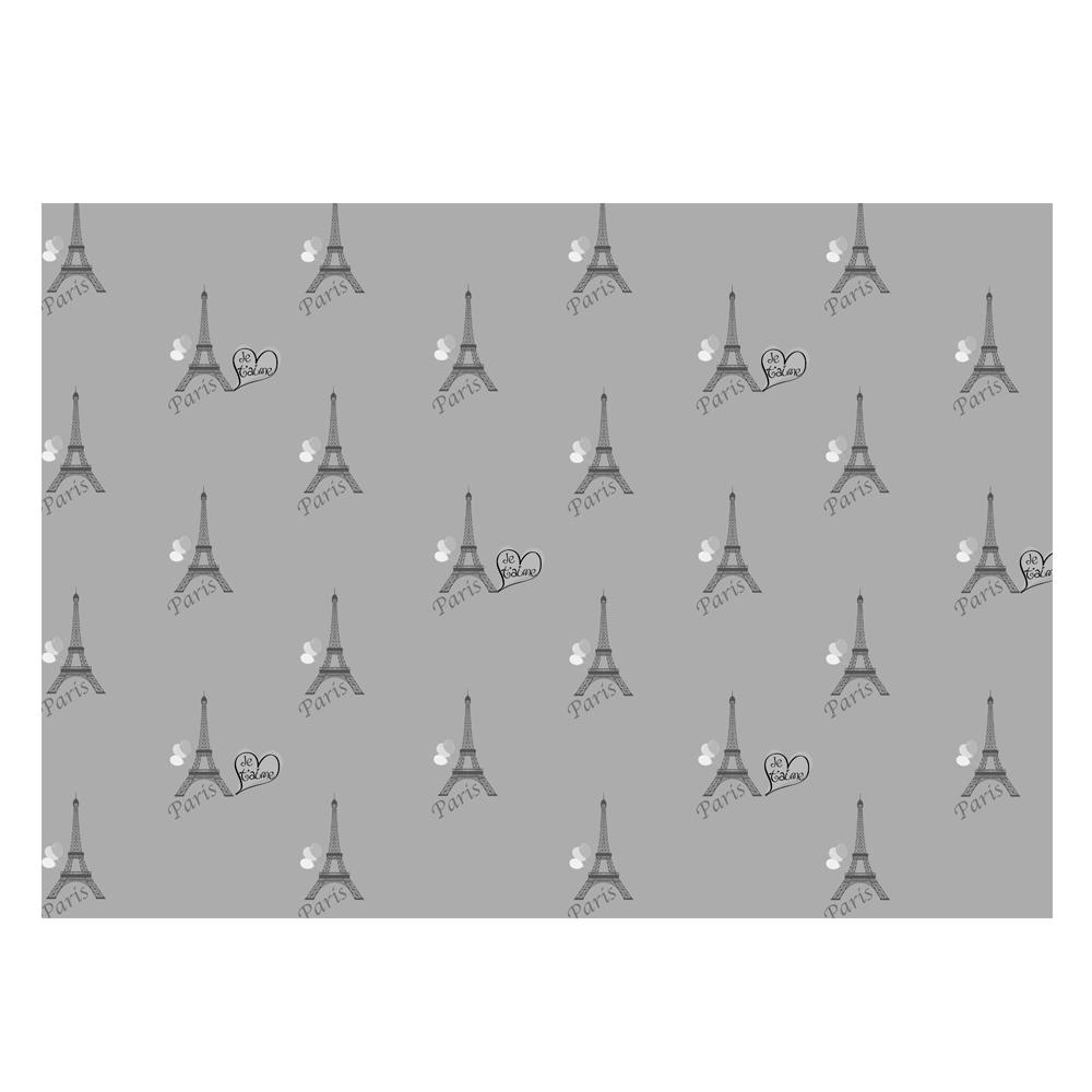 Eiffel Tower Gift Wrap-Grey