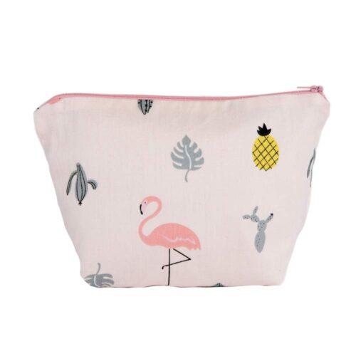 Flamingo Design Cosmetic Bag