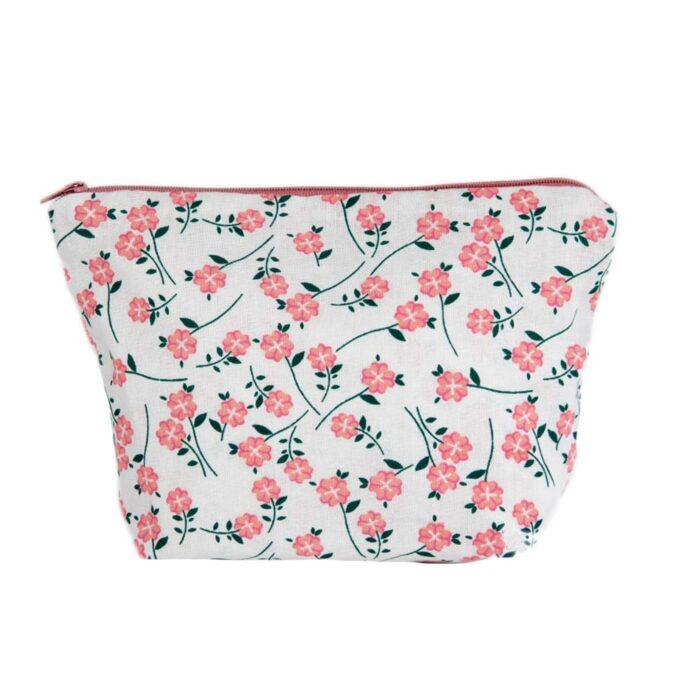 Floral Design Cosmetic Bag