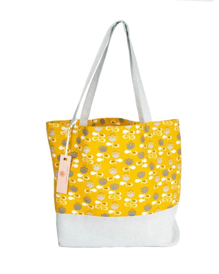 Tote Bag-Flower Design