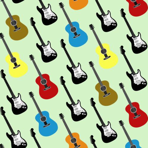 Guitar Gift Wrap-Multicolour