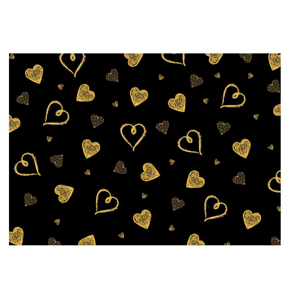Heart Design Gift Wrap-Gold