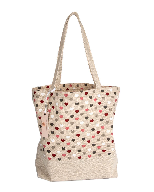 Tote Bag-Hearts Design