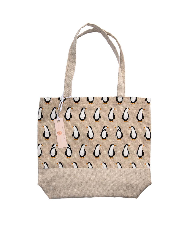 Penguin Design Tote Bag