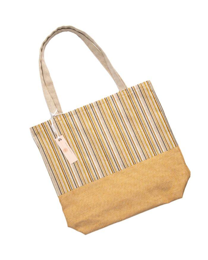 Tote Bag-Yellow Stripes