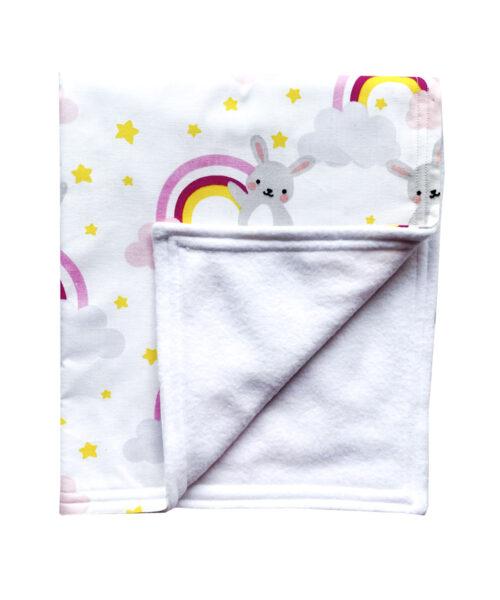 Bunny Rabbit Rainbow Blanket