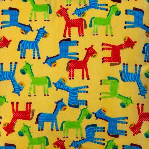 Coloured Horses Mini Cushion