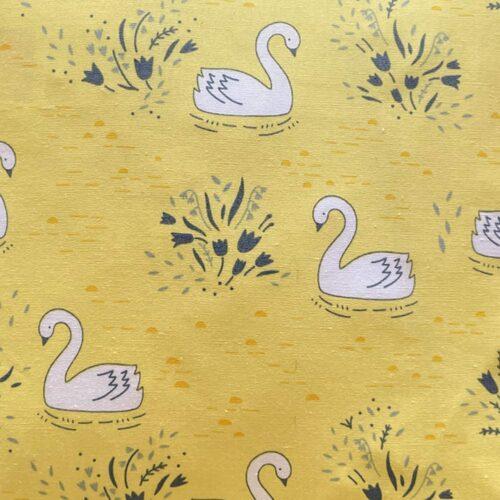 White Swans Mini Cushion