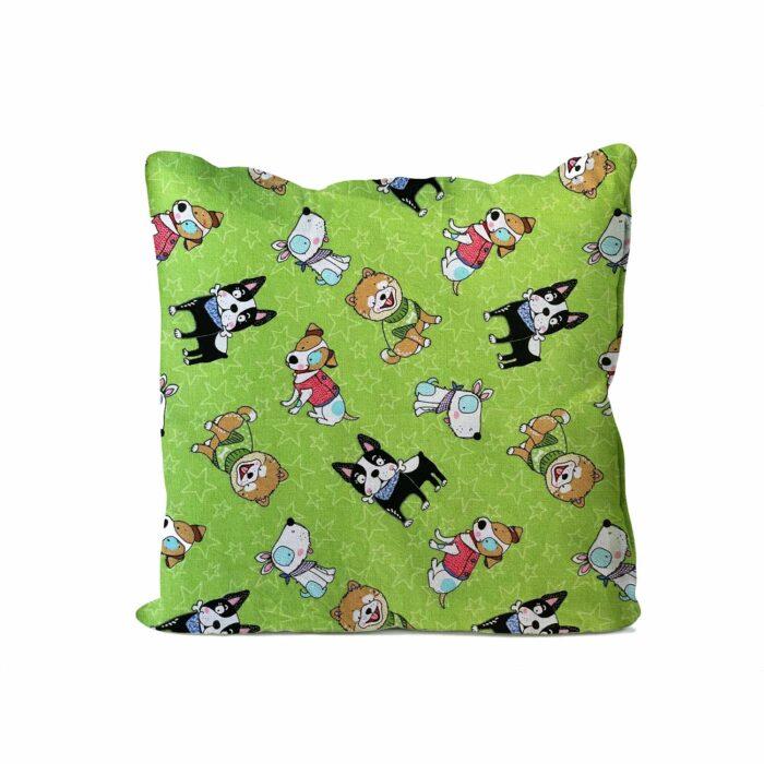 Dog Mini Cushion Green