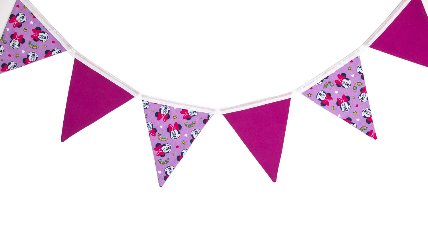 Minnie Mouse Pink Bunting