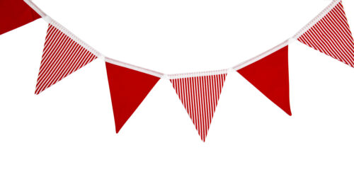 Red & White Striped Bunting