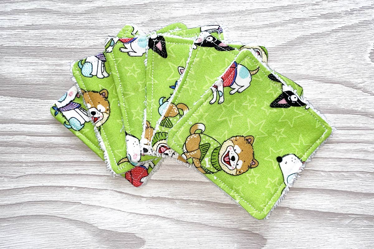 Eco-friendly Face Pads-Cute Doggies