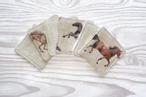 Eco-friendly Face Pads-Horses