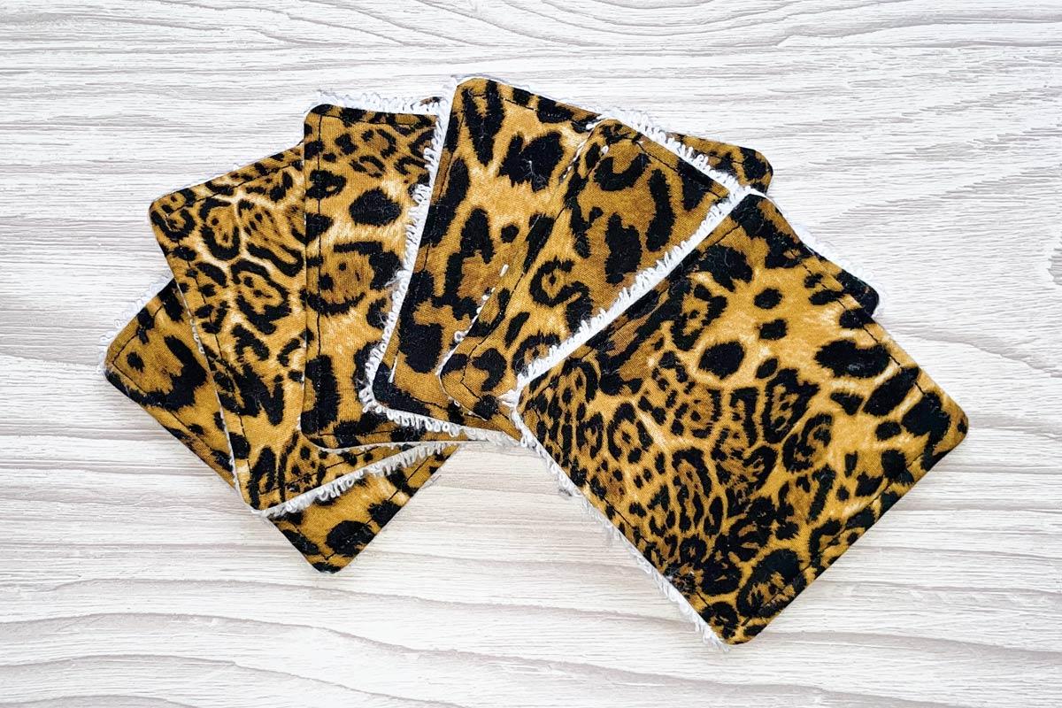 Eco-friendly Face Pads-Leopard Print