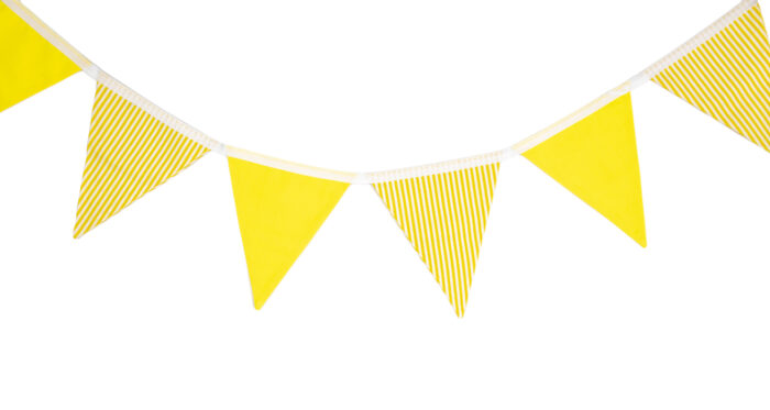 Yellow & White Striped Bunting
