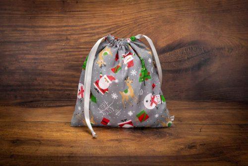 Christmas Gift Bag-Santa & Snowman
