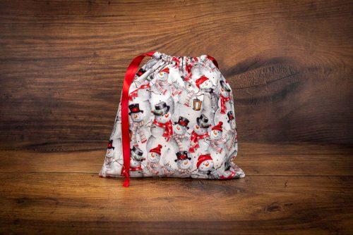 Christmas Gift Bag-Snowmen & Lantern